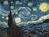 starry night over the rhone Paintings - The Starry Night 2