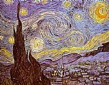 Vincent van Gogh The Starry Night Saint-Remy painting
