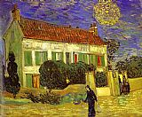 starry night over the rhone Paintings - The White House at Night La maison blanche au nuit