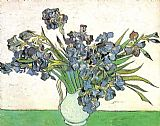 Vincent van Gogh Vase with Irises painting