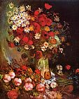 Vincent van Gogh Vase with Poppies Cornflowers Peonies and Chrysanthemums painting