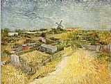 Vincent van Gogh Vegetable Gardens in Montmartre painting