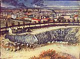 Vincent van Gogh view of the city with factorys painting