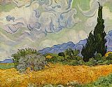 Vincent van Gogh wheat field with cypresses 1889 painting
