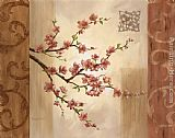 branches of an almond tree in blossom in red Canvas Prints - Blossom Branch I