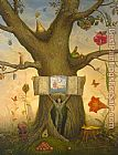 Vladimir Kush Genealogy Tree painting