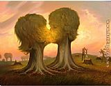 Vladimir Kush Ray of Hope painting