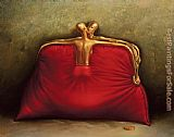 Vladimir Kush Red Purse painting