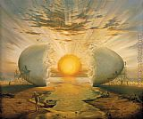Vladimir Kush Sunrise by the Ocean painting