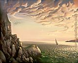 Vladimir Kush bound for distant shores painting