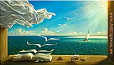 Vladimir Kush diary of discoveries painting