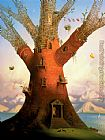 Vladimir Kush family tree painting