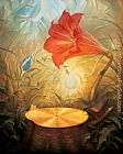 Floral paintings - music of the woods by Vladimir Kush