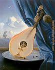 Vladimir Kush still life with mandolin painting