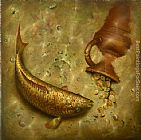 Vladimir Kush what the fish was silent about painting