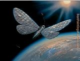 Vladimir Kush winged satellite painting