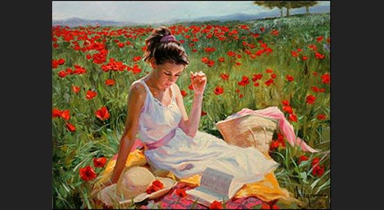 Vladimir Volegov in poppies
