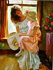 Vladimir Volegov A Mid-Morning Chat painting