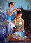 vladimir volegov Paintings - Caring Touch