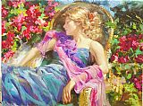 Floral paintings - Sun Drenched Garden by Vladimir Volegov