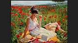 Vladimir Volegov in poppies painting