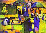 Wassily Kandinsky Arabs I Cemetery painting