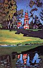 Wassily Kandinsky Red Church painting