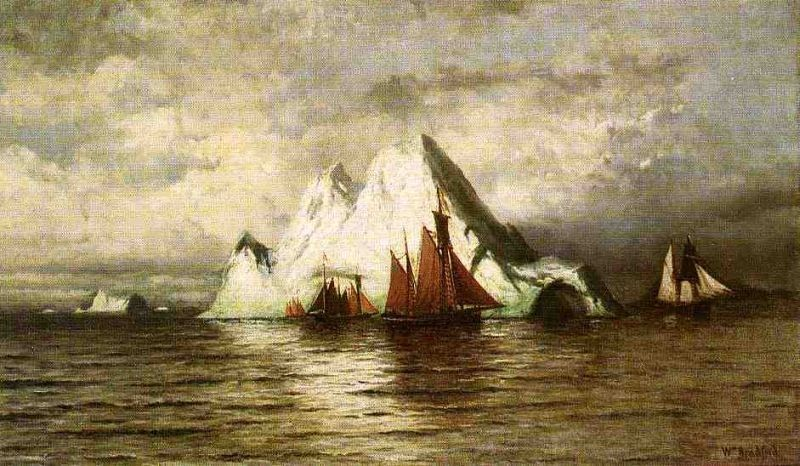 William Bradford Fishing Boats and Icebergs