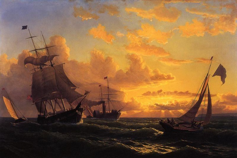 William Bradford Fresh Breeze of Sandy Hook