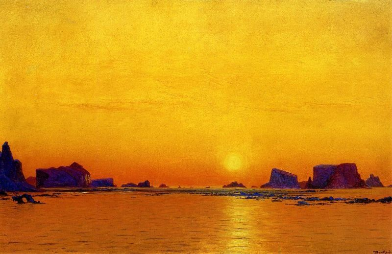 William Bradford Ice Floes Under the Midnight Sun