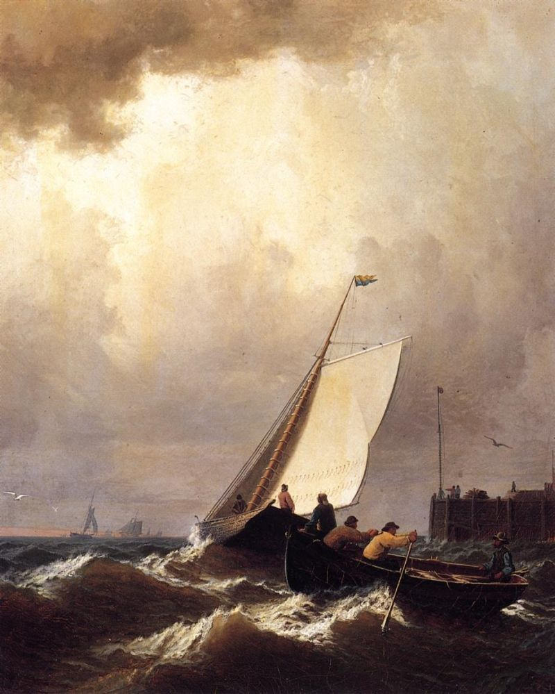 William Bradford Rough Seas