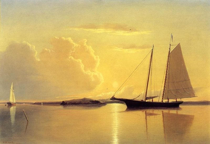 William Bradford Schooner in Fairhaven Harbor, Sunrise