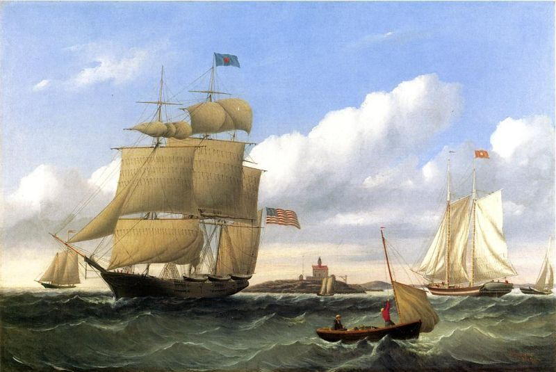 William Bradford The Whaleship 'Emma C. Jones' Off Round Hills, New Bedford