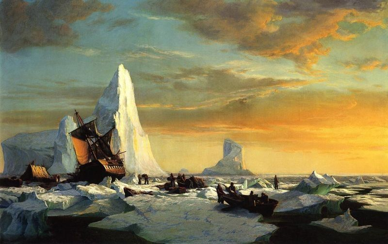 William Bradford Whalers Trapped by Arctic Ice