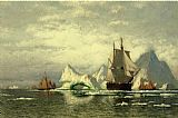 William Bradford Arctic Whaler Homeward Bound Among the Icebergs painting