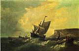 William Bradford Fishermen in an Approaching Storm painting