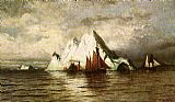 the icebergs Canvas Prints - Fishing Boats and Icebergs
