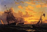 William Bradford Fresh Breeze of Sandy Hook painting