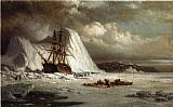 William Bradford Icebound Ship painting