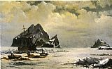 William Bradford Morning on the Artic Ice Fields painting