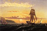 William Bradford Sunrise on the Bay of Fundy painting