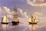 William Bradford The Kennebec River, Waiting for Wind and Tide painting