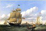 William Bradford The Whaleship 'Emma C. Jones' Off Round Hills, New Bedford painting