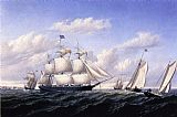William Bradford Whaleship 'Speedwell' of Fairhaven, Outward Bound off Gay Head painting