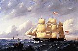 William Bradford Whaleship 'Twilight' of New Bedford painting