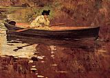 William Merritt Chase Mrs. Chase in Prospect Park painting