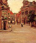 William Merritt Chase The Red Roofs of Haarlem, Holland painting