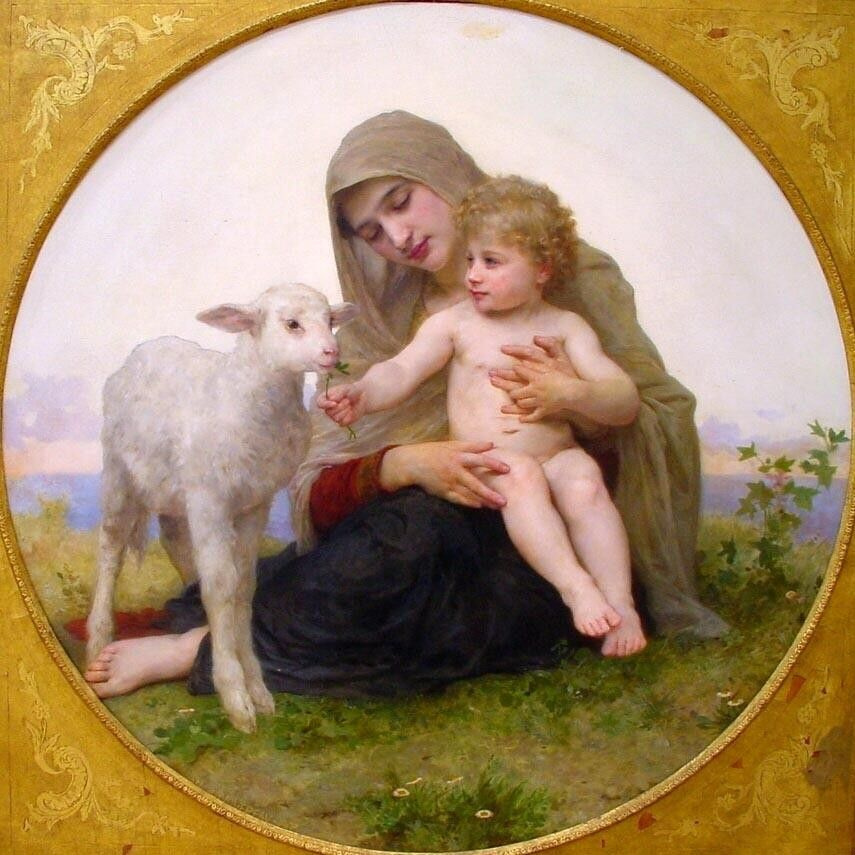 William Bouguereau Virgin and Lamb