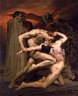 Figure Classic paintings - Dante and Virgil in Hell by William Bouguereau