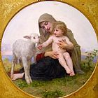 William Bouguereau Virgin and Lamb painting